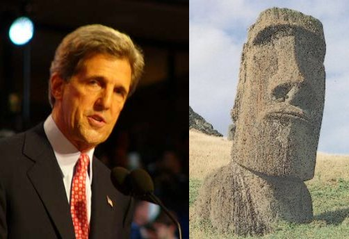 john kerry herman munster guy smiley muppets ancient island monument